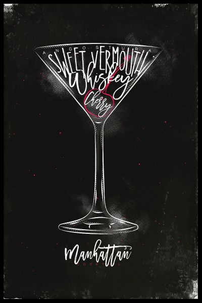Manhattan Cocktail Poster