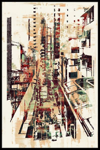 Abstract Cityscape Poster