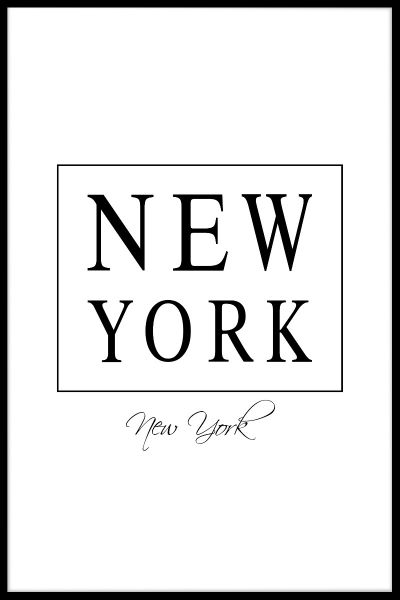 New York Box Text Poster