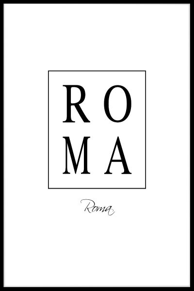 Roma Box Text Poster