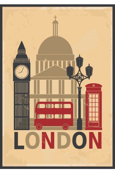 London Illustration Poster