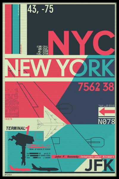 JFK New York City Airport Poster