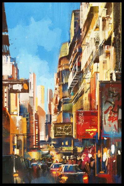 City Street Painting N05 Poster