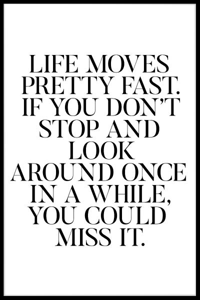 Life Moves Fast Poster