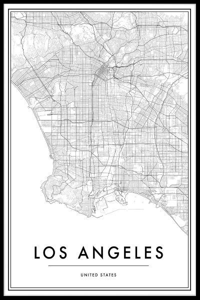 Los Angeles Map Poster
