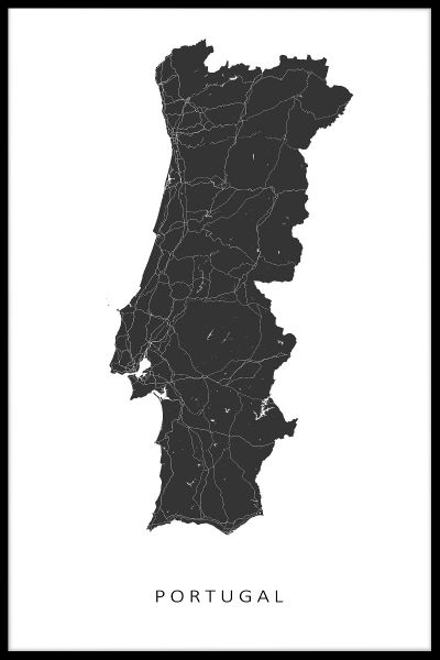 Portugal Kaart Map Poster
