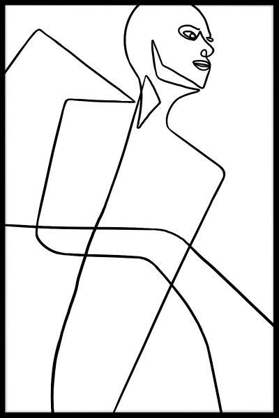 Abstract Line Art N04 Poster