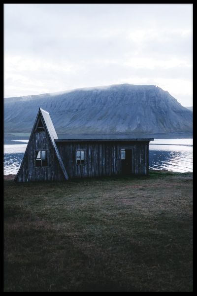 Old Wooden House Iceland Poster