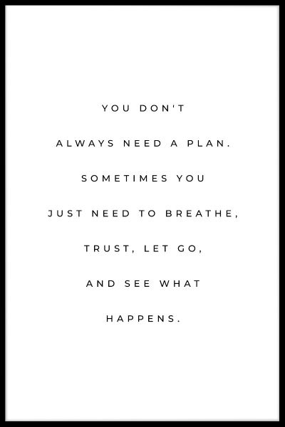 Need A Plan Quote Poster