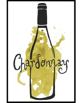Chardonnay Lovers Illustration Poster