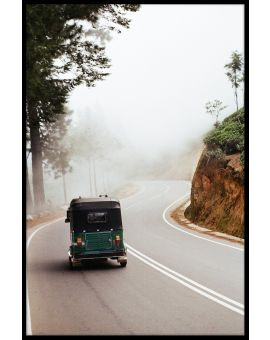 Sri Lanka Tuk Tuk on Mountain Poster