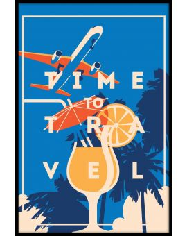 Time to Travel Vintage N02 Poster