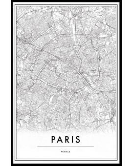 Paris France Map Poster