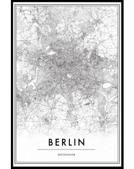 Berlin Germany Map Poster