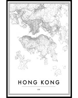 Hong Kong Map Poster
