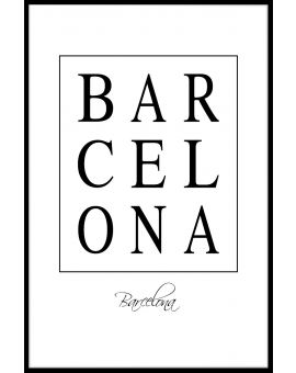 Barcelona Box Text Poster