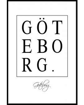 Göteborg Box Text Poster