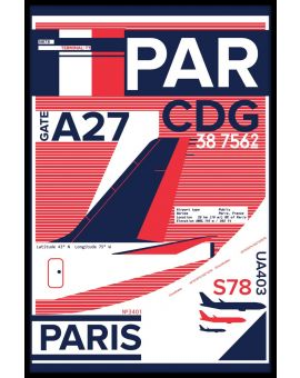 CDG Paris Airport Poster