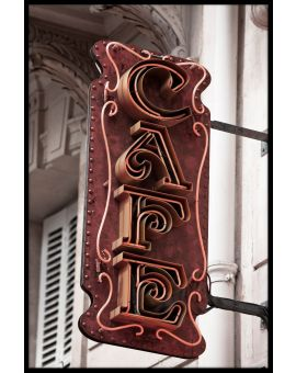 Cafe Sign Paris Poster