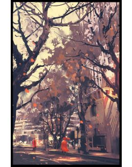City Street Painting N04 Poster