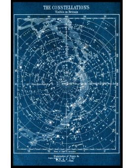 Constellations Map Poster