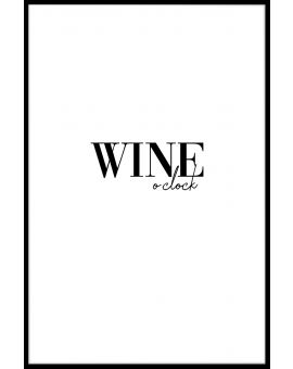 Wine O'Clock Poster