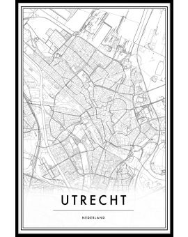 Utrecht Map Poster