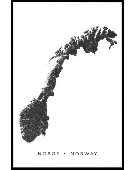 Norway Map Poster