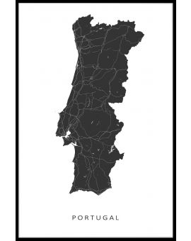 Portugal Map Poster
