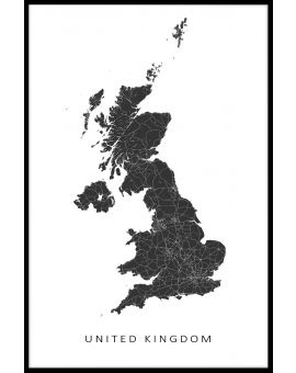 United Kingdom Map Poster