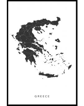 Greece Map Poster