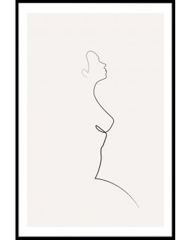 One Line Natural Poster