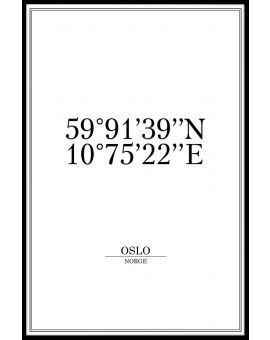 Oslo Coordinates Poster