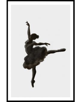 Ballerina Illustration Poster