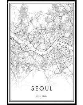 Seoul Map Poster