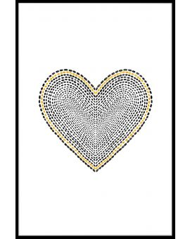 Gold and Black Heart Poster