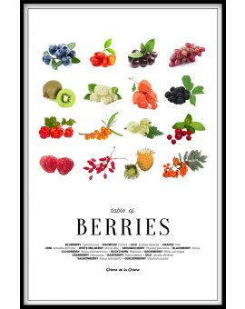 Table of Berries Poster