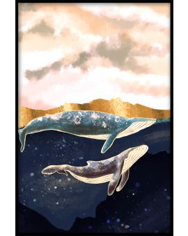 Whales Art Poster