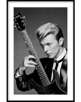 Bowie & Guitar Poster